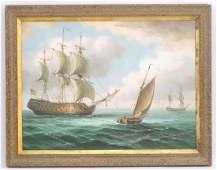James Hardy, XX, Marine School,  Oil on canvas board,
