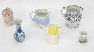 A quantity of assorted ceramics to include a floral