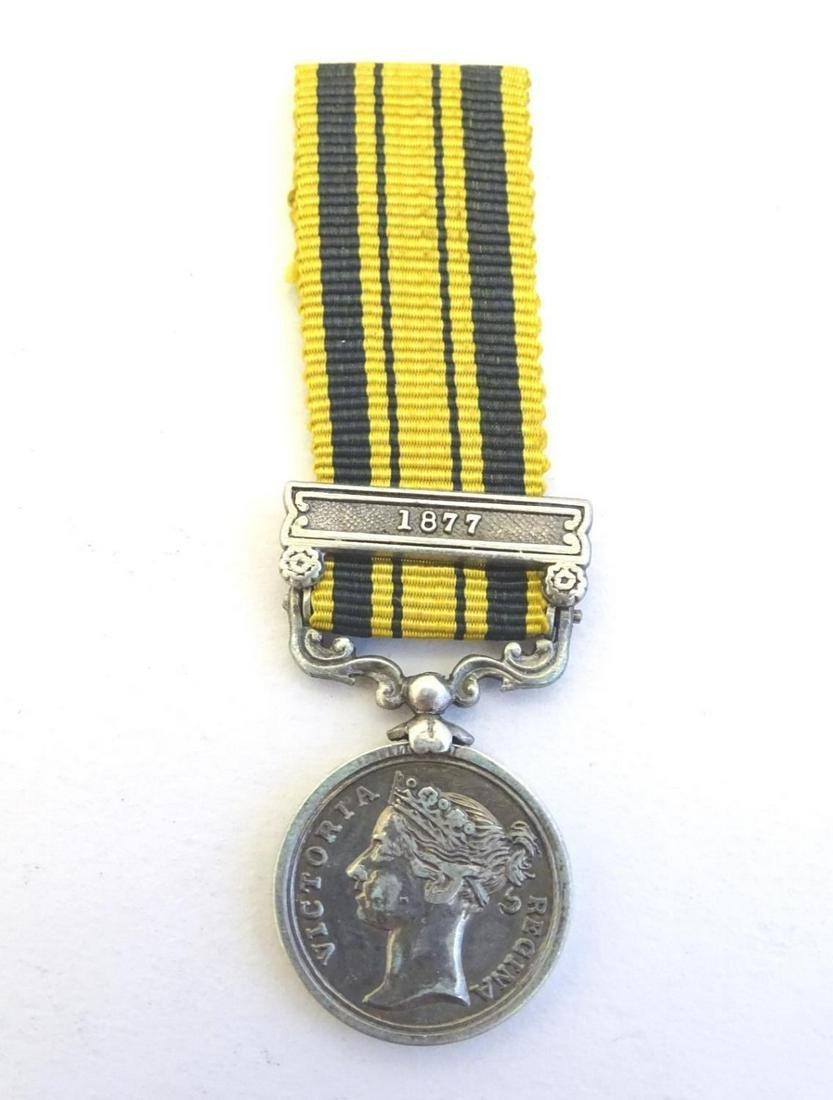 Militaria: a Victorian miniature South Africa Medal,