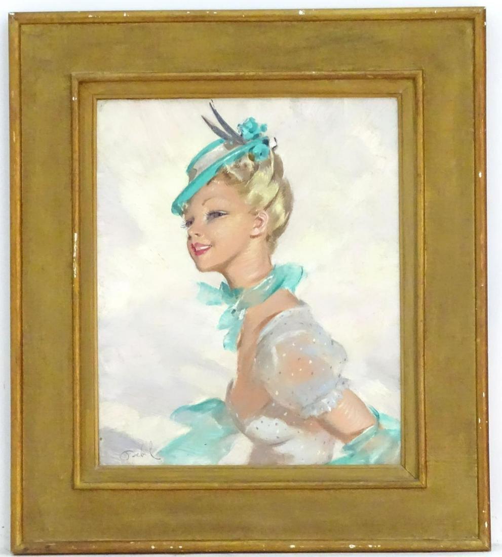 Debil, XX, French School, Oil on canvas, A portrait of