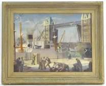Gloria Jarvis (1925-2014), Oil on canvas, Tower Bridge,