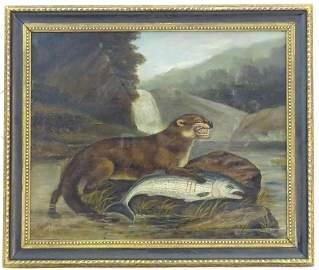 H. Windred, XIX, Oil on canvas, A river landscape scene
