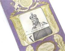 An early 20thC paper / card souvenir commemorating the