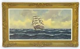 H C Hermans XX Marine School Oil on canvas A