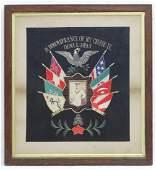 Militaria  a c1900 US Navy framed memento entitled