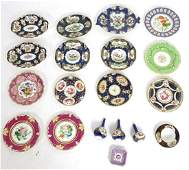 A quantity of 19thC ceramics to include a Worcester