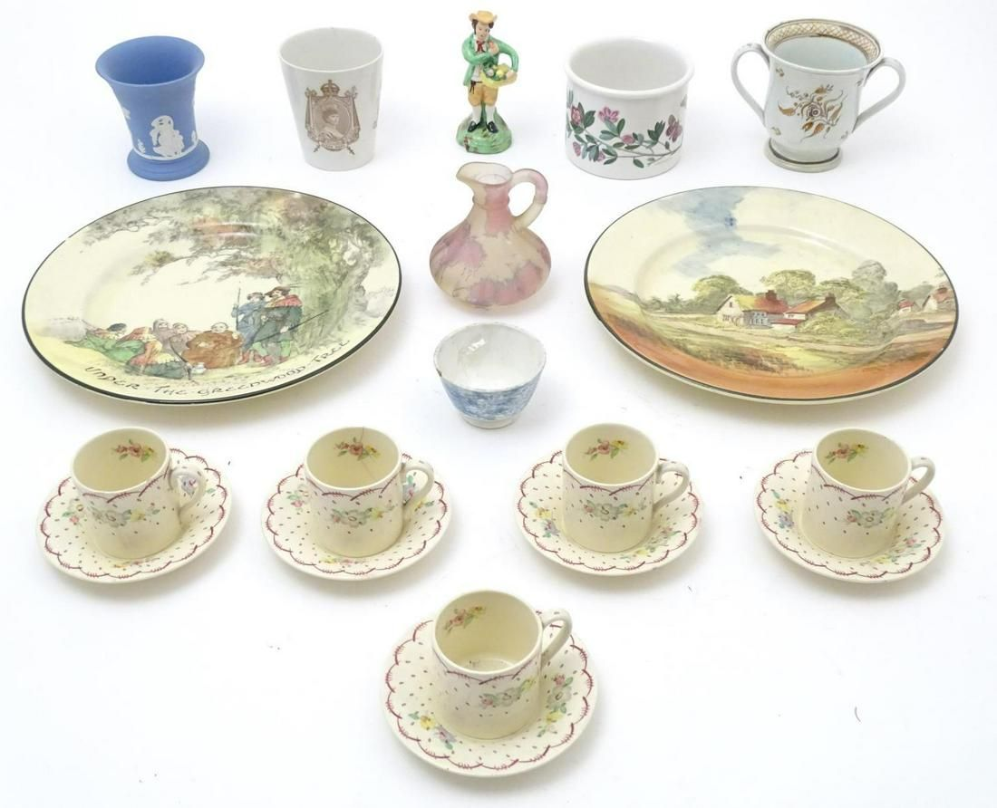 A quantity of assorted ceramic wares to include, four