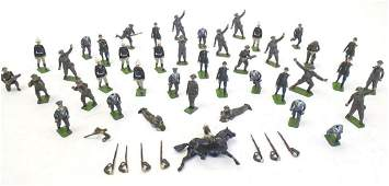 Toys: A quantity of Britains Ltd. hand painted lead
