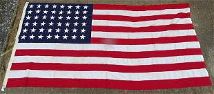 A mid 20thC American stars and stripes flag / Flag of