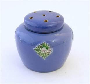 A Royal Doulton pot pourri jar with floral and foliate