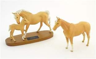 Three Beswick horses, Spirit of Affection matt horse