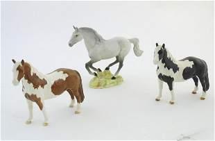 Three Beswick horses comprising Galloping Horse, model