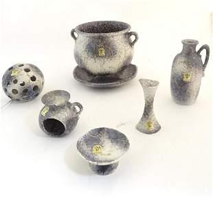 A quantity of West German Ruscha retro studio pottery