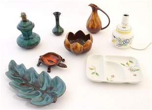 A quantity of vintage Canadian Blue Mountain Pottery