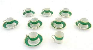 A quantity of Grosvenor China J&G coffee cups and