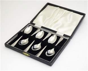 A set of six silver teaspoons, hallmarked Sheffield