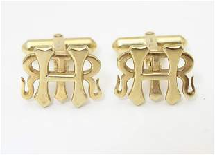 Henley Regatta: A pair of 9ct gold cufflinks with