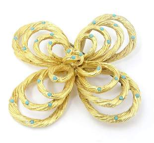 Vintage costume jewellery : A large brooch set with