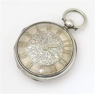 A Victorian silver pocket watch by John Fowle of East