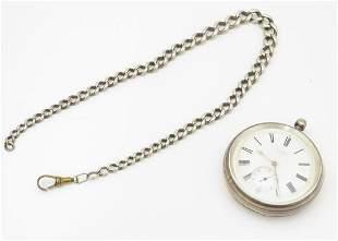 A Victorian pocket watch by J. W. Benson, hallmarked