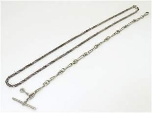A Victorian silver Albert watch chain, maker PP Co.
