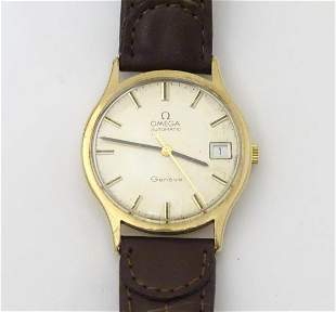 A mid 20thC Omega Geneva automatic chronometer wrist