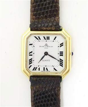 A Baume & Mercier wrist watch, the 18ct gold case of