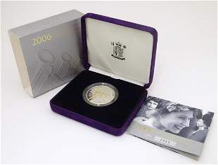 Coin: A Royal Mint 2006 limited edition sterling silver