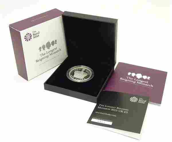 Coin: A Royal Mint 2015 limited edition sterling silver