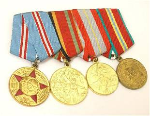 Militaria: a group of four USSR red army commemorative