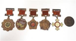 Militaria: a mid 20thC Chinese PLA medal group,