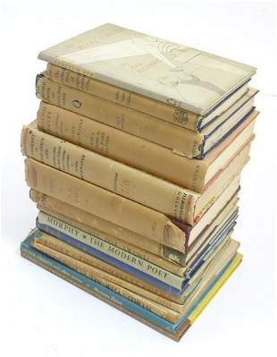 Books: A quantity of books on the subject of poetry to