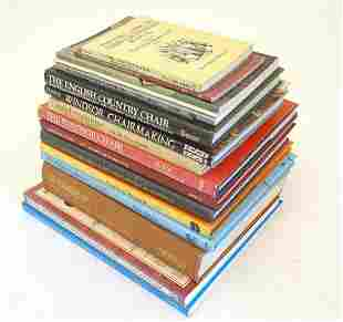 Books: A quantity of titles on the subject of furniture