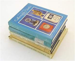 Books: A quantity of books on the subject of clocks,