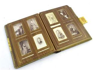 A late Victorian photograph leather bound photograph