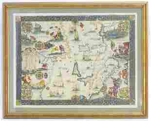 After Gerardus Mercator (1512-1594), A 20thC decorative