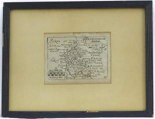 Map: An 18thC engraved map of Buckinghamshire after