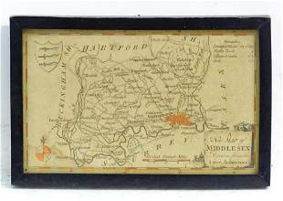 Map: An 18thC map of Middlesex after Thomas Conder
