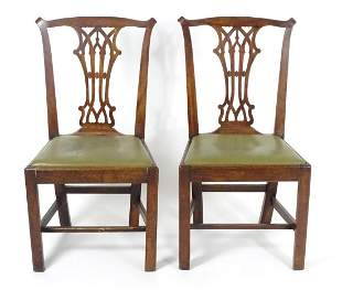 A pair of late 18thc / early 19thC mahogany Chippendale