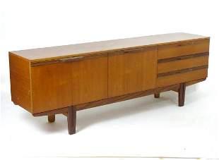 Vintage retro, mid-century: a large c1970 teak