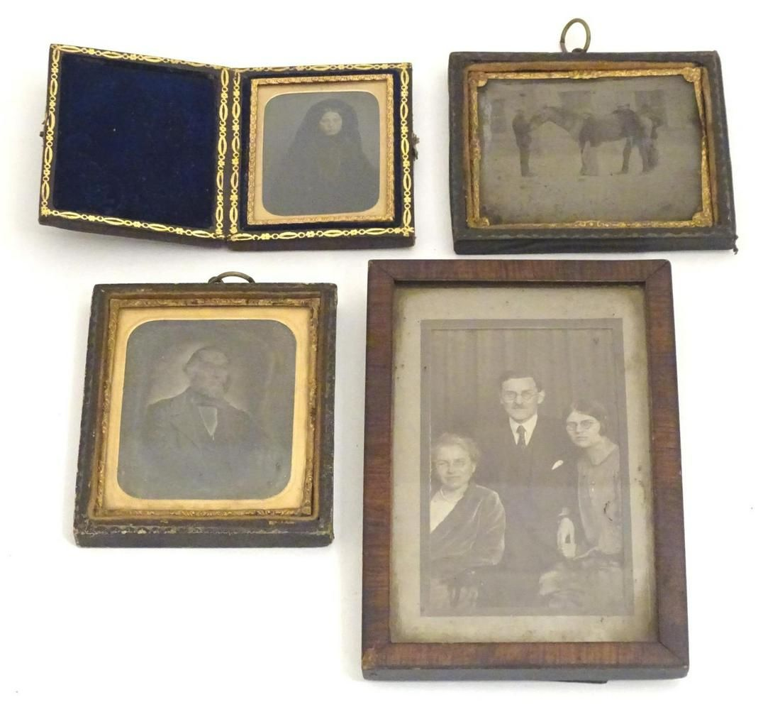 Three Victorian daguerreotype / ambrotype photographs