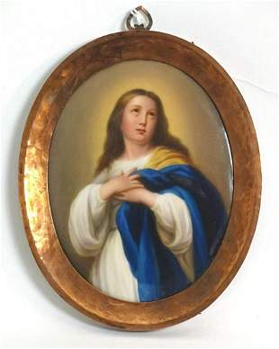 An early 20thC Continental porcelain plaque depicting