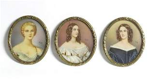 Three late 19th / early 20thC Continental portrait