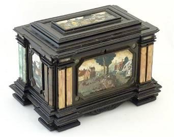 A 19thC Italian Grand Tour table cabinet / casket box