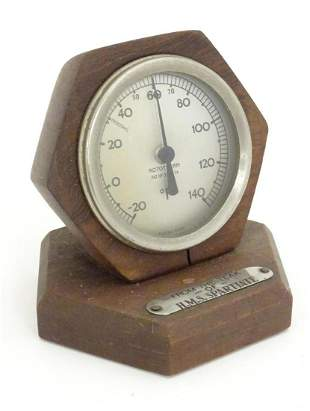 A20th C desk thermometer / Rototherm by Corfield Ltd,