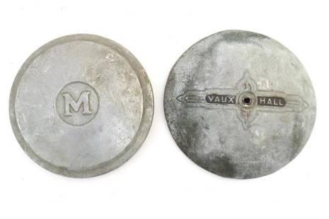 Vintage cars, motoring: two mid-20thC aluminium hub