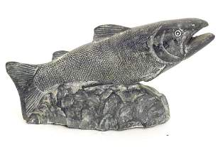 A Canadian Wolf Original soapstone carving / sculpture