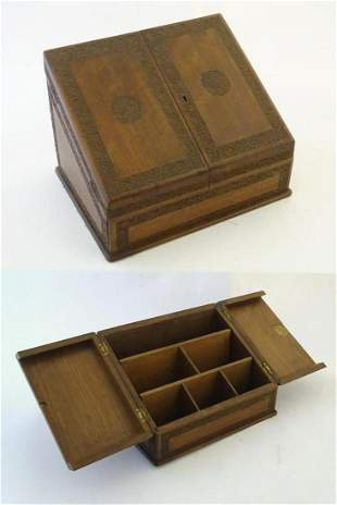 An early 20thC stationary / correspondence cabinet with