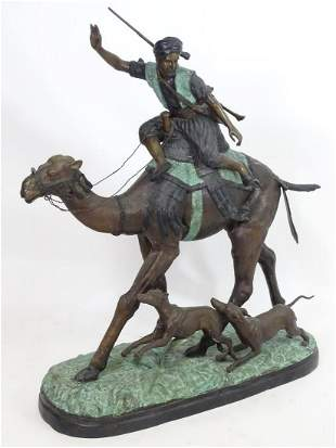 A large French bronze sculpture after Pierre Jules Mene