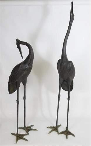 Bronze garden statuary / sculpture : Two large bronze